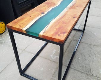 Stunning epoxy river coffee table