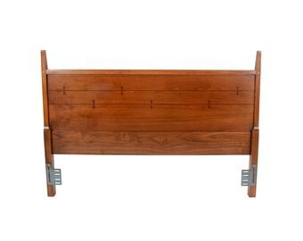 Lane Tuxedo or Butterfly Headboard Walnut Headboard Mid Century Modern