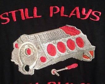 Embroidered Engine Block Tee