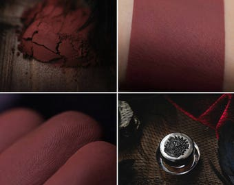 Eyeshadow: Velvet Maid - Dark Castle. Terracotta matte eyeshadow by SIGIL inspired.