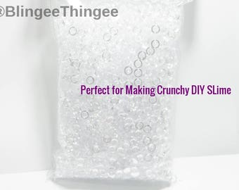 12 oz Decorative Vase Filler Acrylic 6mm Clear Mini Discs Used to Make Crunchy DIY Slime Fish Bowl Filler