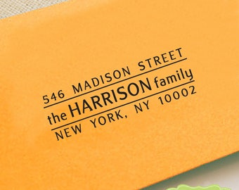 CUSTOM ADDRESS STAMP, personalized pre inked address stamp, pre inked custom address stamp, return address stamp with proof - Stamp b5-5