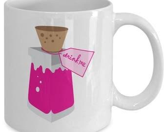 Drink Me Alice in Wonderland Gift Mug Coffee Cup Disney Lewis Carroll
