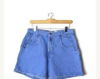 ON SALE Vintage High Waist Blue Denim Shorts from 90's/W28*
