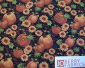 Pumpkin Patch by Cheryl Haynes of Prairie Grove Peddler for Benartex, Quilt or Craft Fabric, Fabric by the Yard
