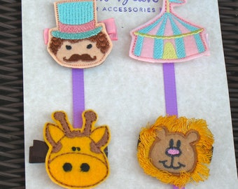 Circus Collection-FREE SHIPPING - Ring Master, Circus Tent, Giraffe, and  Lion Hair Clips-Circus/Fair Party Theme - Under the Big Top!