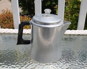 Mirro Six Cup Aluminum Percolator Coffee Pot