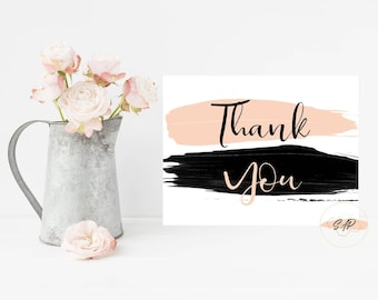 Thank You Card - Wedding Thank You Cards - Baby Shower Thank You Cards - Modern Thank You Cards - Advice Cards - Wedding Shower Invitation