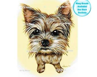 Yorkie - Yorkshire Terrier - Yorkshire Terrier Art - Yorkie Painting - Yorkshire Terriers - Pet Portrait - Yorkie Art - Weeze Mace
