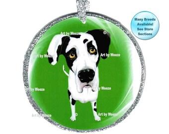 Great Dane Ornament, Harlequin Great Dane, Great Dane Art, Pet Memorial, Christmas Ornament, Dog Lover, Tree Ornament, Dog Breed Ornament
