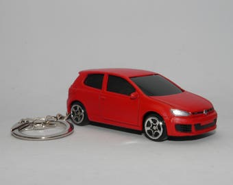 "Volkswagen Golf GTI Free Shipping Birthday and anniversary gift Key Chain 3"" Collectible Metal Diecast Sport Car."
