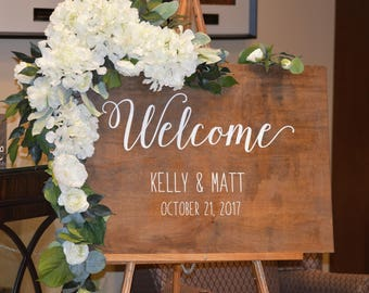 Boho Wedding Welcome Sign Ideas, Welcome To Our Wedding, Rustic Wedding Welcome Signs, Personalized Wedding Sign, Reception Sign