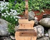 Reclaimed Wood Guitar Home Decor