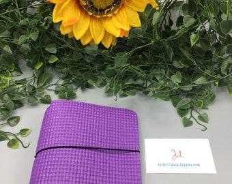 A609 - Spring Violet (vegan)  - A6 JournalJot Traveler's Notebook/Planner Cover/Journal