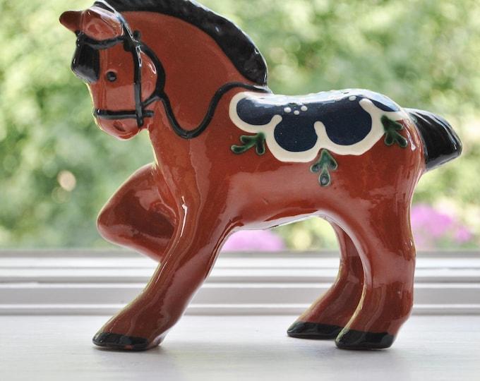 Vintage Swedish NIttsjo Ceramic Horse Scandinavian 1970's