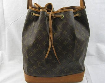 10% OFF SALE Genuine vintage Louis Vuitton Malletier Noe GM drawstring shoulder bag  1989