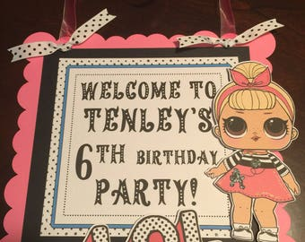 LOL Surprise Dolls Door Sign - Personalized -