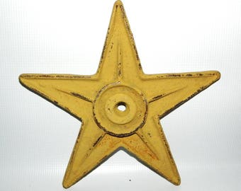 """9"""" Gold Cast Iron star with center hole"""