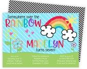Rainbow Invitation, Rainbow Party, Rainbow Birthday Invitation, Rainbow Birthday, Rainbow Birthday Party, Rainbow Invites, Rainbow Baby  134