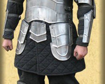 "Larp, fantasy, kinght, medieval costume, armour, larp armor,  steel armor: cuirass (front and back) ""Weg des Schwertes"""