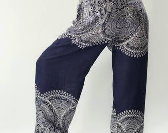 CH0049  Rope and Elastic Waist Lady pants - bohemian clothing women yoga pants harem pants hippie trousers