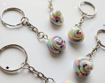 Unicorn Poop Keyring. Pastel Rainbow. Unicorn. Glitter. Magical Handmade. Ready to ship