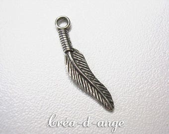 1 pendant Charm feather Charm