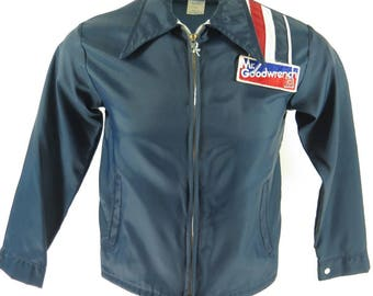 Vintage 80s Mr. Goodwrench Racing Jacket Mens XS Deadstock GM Windbreaker USA [H26Q_0-8]