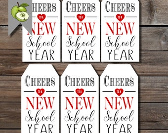 wine gift tags, cheers tag, to the new school year, best teacher, Teacher gift, end of year tag, Teacher tag, Gift Tag, Printable