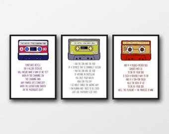 Set of 3 Unframed The Smiths Lyrics Prints