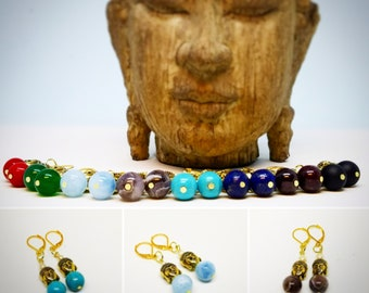 Buddha Gemstone Earrings