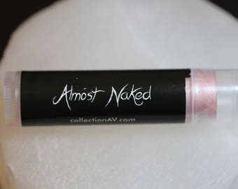 Almost Naked or Naked Rose / Organic Tinted Lip Balm / Shimmer, Sheer, Pink / ADD ON