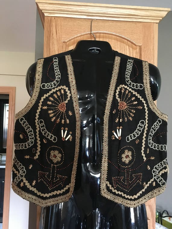 Men's Gypsy Pirate Embroidered Vest