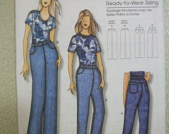 Butterick B5403 jeans Misses Size XS to XL
