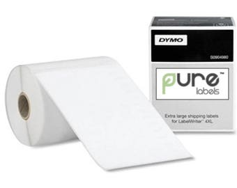 """4 X 6"""" Compostable Rectangle Labels, Dymo Compatible DIRECT THERMAL [200 Labels] (LC2342)"""