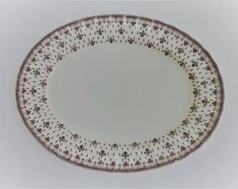 england spode copeland fleur de lis platter vintage brown transfer serving plate china kitchen