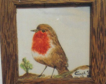 Robin    or a Conker     Both are hand Painted