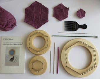 Loom Combo II - Original TURTLE Loom™, TinyTURTLE™, and TexaTURTLE™ Hexagon Pin Looms Kit