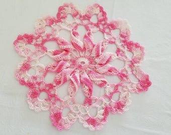 Pink Pinwheel Doilie
