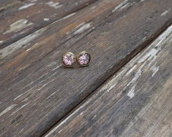 """leonie"" brass liberty ear studs"