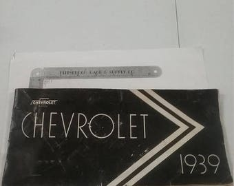 10% OFF 3 day sale Used 1939 chevrolet sales brochure super cool