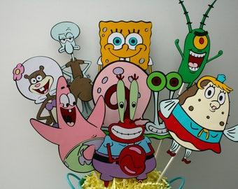 Large Spongebob Squarepants centerpiece without a container, Spongebob birthday