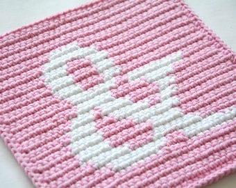 Ampersand Potholder Crochet Pattern - for beginners