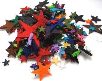 colorful stars, felt (1567)