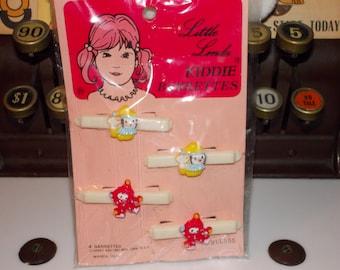 vintage little linda kiddie barrettes