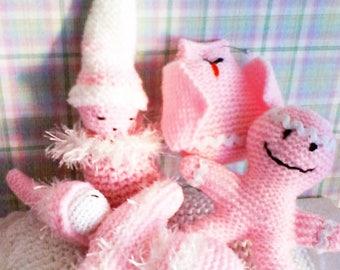"""Pink"" family, mini stuffed animals"