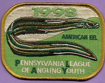 New 1998 Pennsylvania League of Angling Youth collector's patch american eel