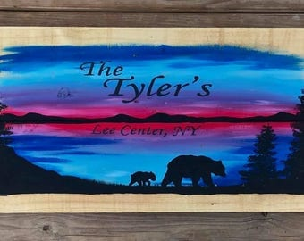 Hand Painted Camp Sign, Hand Painted Man Cave Sign, Wooden Sign, Custom Wooden Sign