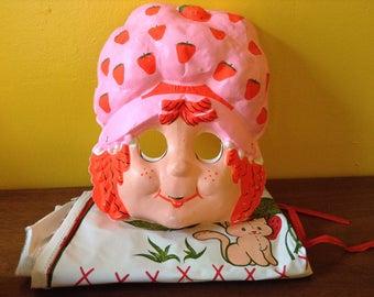 REDUCED Vintage Strawberry Shortcake Costume Mask Dress SALE