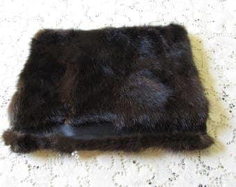 Vintage Fur Jewelry Roll